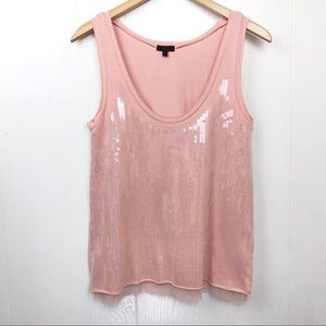 J. Crew Collection Sequin Front Tank Top S